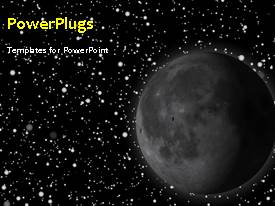 PowerPlugs: PowerPoint template with animated depiction of the solar system with moon and stars