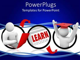 PowerPlugs: PowerPoint template with animated depiction of two human figures  in white color
