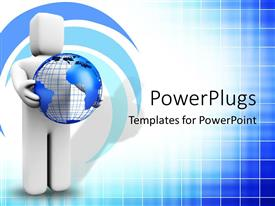 PowerPlugs: PowerPoint template with animated depiction of a white human figure holding an earth globe