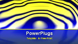 PowerPoint template displaying animated depiction of yellow water ripples on blue surface - widescreen format