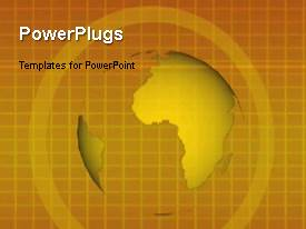 PowerPlugs: PowerPoint template with animated earth globe and world map on background with gridlines