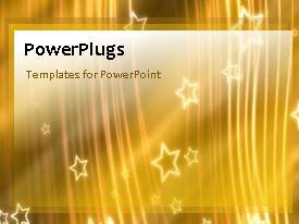 PowerPlugs: PowerPoint template with animated gold stars with rippling stripes