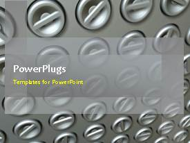 PowerPlugs: PowerPoint template with animated industrial depiction with chrome control switches turning automatically