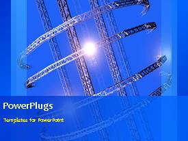 PowerPlugs: PowerPoint template with animated industrial depiction with rotating heavy metals