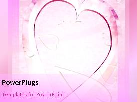 PowerPlugs: PowerPoint template with animated little heart shapes in larger sparkling heart shape