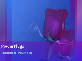 PowerPlugs: PowerPoint template with animated love depiction with gold wedding rings and rose in background