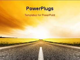 PowerPlugs: PowerPoint template with animated new year depiction with road leading to 2013