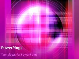 PowerPoint template displaying animated purple lines moving in front of spinning globe