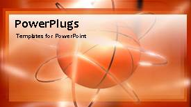 PowerPoint template displaying animated sport depiction with rotating ball in orange background - widescreen format