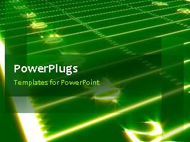PowerPlugs: PowerPoint template with animated sports background depiction with green theme