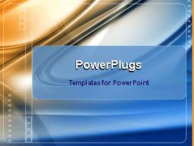 PowerPlugs: PowerPoint template with animated squares moving on glowing gold and chrome plated background