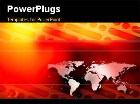 PowerPlugs: PowerPoint template with animated technology depiction with world map in digital background