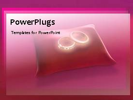 PowerPlugs: PowerPoint template with animated wedding concept with wedding rings in pink background