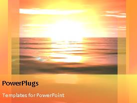 PowerPlugs: PowerPoint template with animation of colorful sky and sunset over water surface