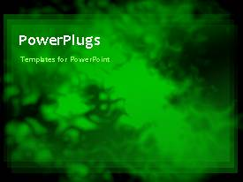 PowerPlugs: PowerPoint template with animation of green smoke over black background