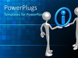 PowerPlugs: PowerPoint template with animation of two adults holding a blue i symbol