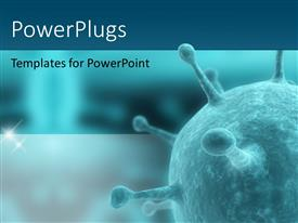 PowerPlugs: PowerPoint template with antivirus artery bacteria biology blood cell in blue