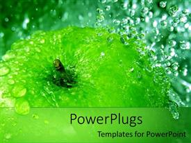 PowerPlugs: PowerPoint template with an apple being dropped in water