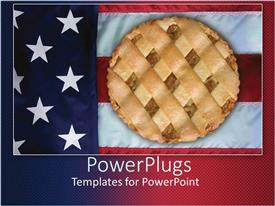 PowerPlugs: PowerPoint template with apple pie sitting on American flag
