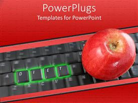 PowerPlugs: PowerPoint template with an apple placed on top of a keyboard
