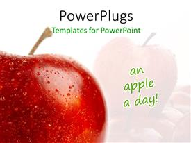 PowerPlugs: PowerPoint template with an apple with a reflection in the background
