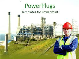 PowerPlugs: PowerPoint template with an architecture with the under-construction building