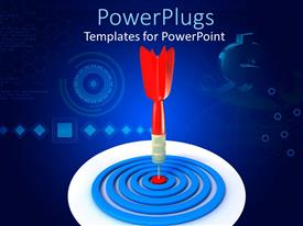 PowerPlugs: PowerPoint template with an arrow hitting the target on darts board