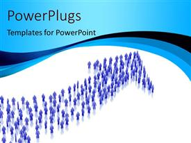PowerPlugs: PowerPoint template with arrow of people depicting business growth concept
