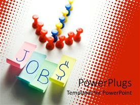 PowerPlugs: PowerPoint template with an arrow sign pointing towards the word jobs