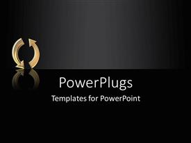 PowerPlugs: PowerPoint template with arrows in a circle as a metaphor repeat life cycle on a black background