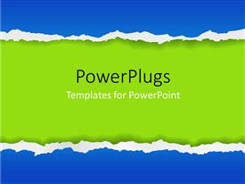 PowerPlugs: PowerPoint template with artistic torn paper effect design background
