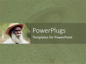 PowerPlugs: PowerPoint template with an ash colored background with an elderly black man