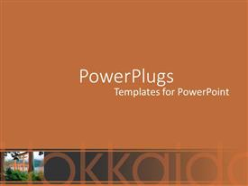 PowerPlugs: PowerPoint template with asian gardens with orange and black background