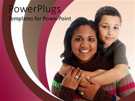 PowerPlugs: PowerPoint template with an asian mother with her child