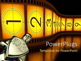 PowerPlugs: PowerPoint template with award with filmstrip