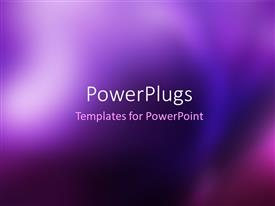 PowerPlugs: PowerPoint template with awesome abstract blur background in blue and purple.