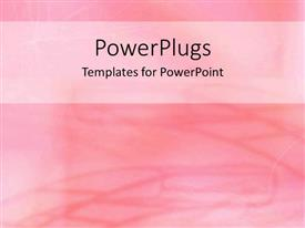 PowerPlugs: PowerPoint template with baby pink background with curved pink lines and waves