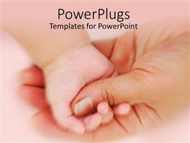 PowerPlugs: PowerPoint template with baby's hand grasping mother's thumb
