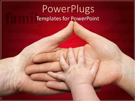 PowerPlugs: PowerPoint template with baby's hand on mother's hand that's on father's hand