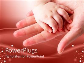 PowerPlugs: PowerPoint template with baby's hand on mother's open palm