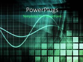 PowerPlugs: PowerPoint template with background with black and green grid lines and colored squares