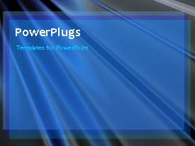 PowerPlugs: PowerPoint template with a background with blue ray of lights moving from one place to the other