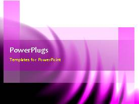 PowerPlugs: PowerPoint template with a background with layers and a sentence