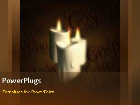 PowerPlugs: PowerPoint template with a background with a number of words