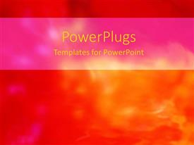 PowerPoint template displaying a background of orange and reddish color