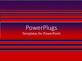 PowerPlugs: PowerPoint template with a background of red and blue colored lines
