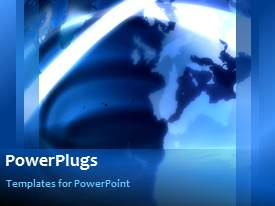 PowerPlugs: PowerPoint template with a background related to globalization and the world