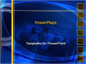 PowerPlugs: PowerPoint template with a background related to professional people with place for text in middle