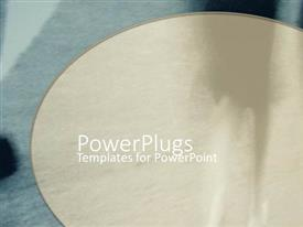 PowerPoint template displaying a background related to rug in grey color