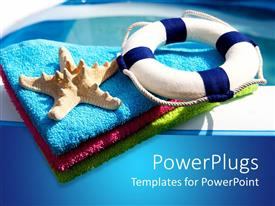 PowerPlugs: PowerPoint template with background related to swimming and enjoying the summer in a pool